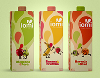 Packaging: yogurt bebible IOMI