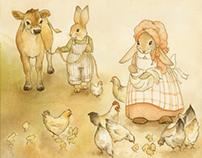 FARMER O'HARE & BONNIE BUNNY: PART 2 (children's art)