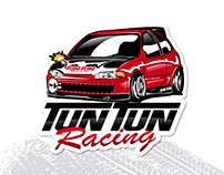 Logo and Car illustration - Tun Tun Racing