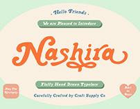 FREE | Nashira Fluffy Hand Drawn Typeface