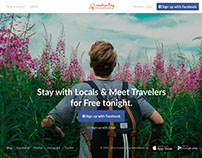 Couchsurfing Homepage concept