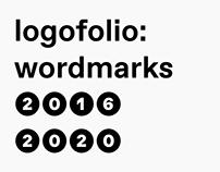 logofolio: wordmarks 2016 – 2020