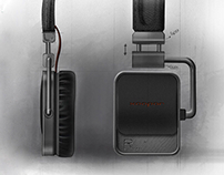 Bluetooth Headset Conceptual Sketch