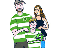 Family digital portraiture commissioned work