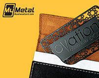 Custom Black Metal Business Cards