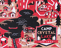 Camp Crystal Lake Illustrated Map
