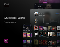 Free UI Kit | MusicBox 70+ Screens