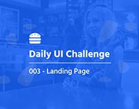 Daily UI 003 - Landing Page | Philadelphia Diner