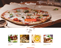 Pizza Restaurant - Home Page Design Concept