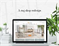 A rug shop redesign