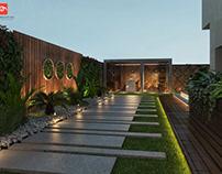 Private villa's garden's at rehab