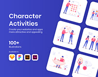 100+ Character Activities Illustrations