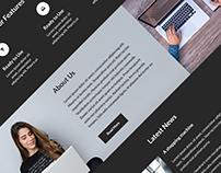 Landing Page UI Kit PSD