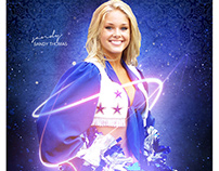 Sports cheerleader photography template