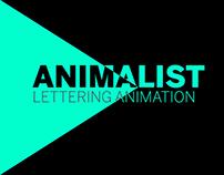 Animalist Lettering Animation