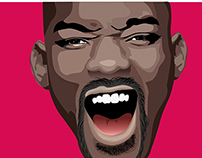 "Face Illustrations ""Will Smith"""