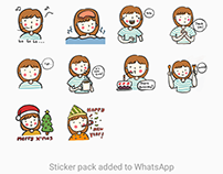 Kawaii Girl Sticker Set for WhatsApp