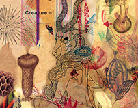 """Illustration charge for the poetry """"Room Of Imaginary C"""