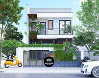 Mẫu nhà phố đẹp 2 tầng hiện đại 7x18m tại Quảng Nam