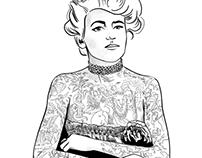 Maud Stevens Wagner - Digital portrait