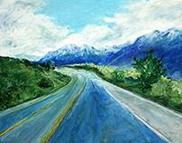 Oil Pastel Landscape Series