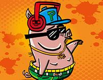 Gangsta rap illustration