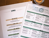 Loks Bar & Kitchen - Menu Design 2016