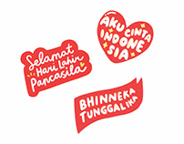 Facebook Stickers for Pancasila Day