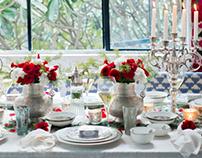 // Christmas Dinner Setup/ Home Styling : Good Earth