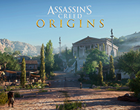 Assassin's Creed Origins - Level art of Balagrae town