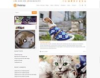 Blog Left sidebar - Petshop WordPress Theme