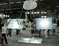 VIRTUAL ORGANISM installation Georgi Yamaliev 2009