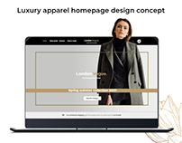 Homepage Design for Luxury Brands
