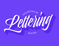 Lettering quotes - Collection
