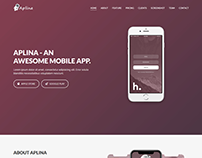 Aplina - App Landing Page Bootstrap 4 Template