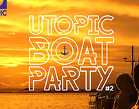 Afiches Utopic Boat Party #2 -  2da fiesta en altamar