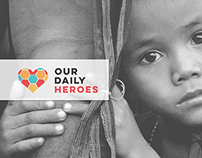 Our Daily Heroes // Branding // Art direction // NGO