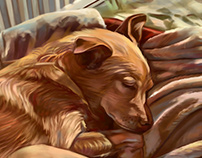 Digital painting dog drawing [ time lapse ] 2018 r.
