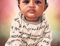 Beautiful Babies Series #2 Digital Art by Wayne Flint