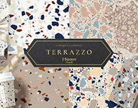 16 Terrazzo Seamless Pattern JPG+EPS