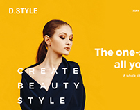 DSTYLE (WEBSITE LANDING PAGE CONCEPT)