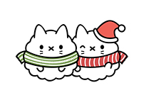 Popcorn Cat- Holiday LINE Stickers