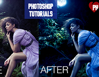 Photoshop Tutorial | Day to Night Photoshop effect