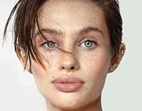 Clean Freckled Skin