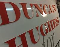 Duncan Hughes dimensional letter sign