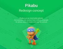 Pikabu Redesign (Free sketch file)