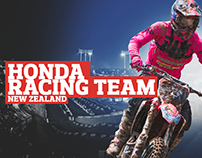 One page website - Honda Racing Team
