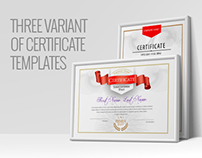 Three Certificate Template