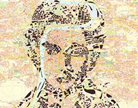 Human Cartography: Franz Kafka / Prague / Paper Cut Map
