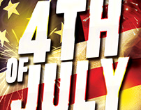 4th of July Independence day Flyer Template